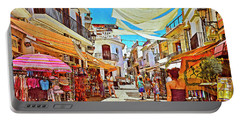 Portable Battery Charger featuring the photograph Summer In Malaga by Mary Machare
