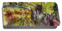 Summer In Monet's Garden Portable Battery Charger by Dragica Micki Fortuna