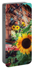 Summer In The City - Sunflowers Portable Battery Charger
