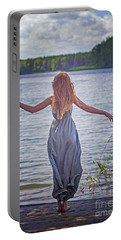 Summer In The Light And Winter In The Shade Portable Battery Charger by Agnieszka Mlicka
