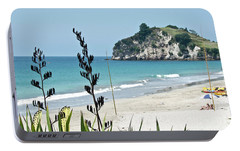 Portable Battery Charger featuring the photograph Summer New Zealand Beach by Yurix Sardinelly