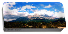 Summer On Mt. Shasta Portable Battery Charger by Methune Hively