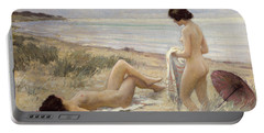 Summer On The Beach Portable Battery Charger by Paul Fischer