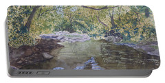 Portable Battery Charger featuring the painting Summer On The South Tow River by Joel Deutsch