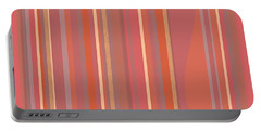 Portable Battery Charger featuring the digital art Summer Peach by Val Arie