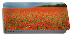 Summer Poppies In England Portable Battery Charger