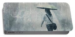 Summer Rain Portable Battery Charger by LemonArt Photography