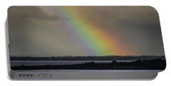 Portable Battery Charger featuring the photograph Summer Rainbow Over Shannon Estuary by James Truett