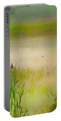 Summer Reeds Portable Battery Charger by Catherine Alfidi