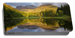 Summer Reflections At The Torren Lochan Portable Battery Charger
