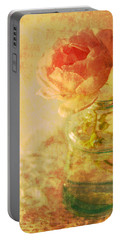 Summer Rose Portable Battery Charger by Catherine Alfidi