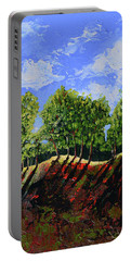 Summer Shadows Portable Battery Charger by Donna Blackhall
