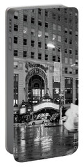 Portable Battery Charger featuring the photograph Summer Shower, Times Square, Nyc #130559 by John Bald
