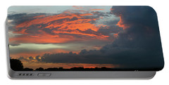 Summer Sky On Fire  Portable Battery Charger