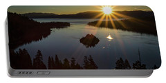 Portable Battery Charger featuring the photograph Summer Solstice Emerald Bay by Mitch Shindelbower