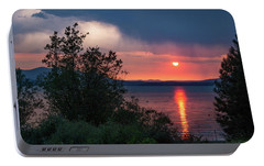 Portable Battery Charger featuring the photograph Summer Storm by Jan Davies