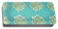Summer Succulents- Art By Linda Woods Portable Battery Charger