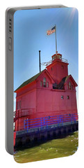 Portable Battery Charger featuring the photograph Summer Sun And Big Red by Michelle Calkins