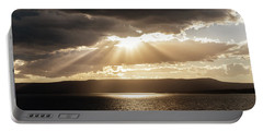 Summer Sun On Yellowstone Lake Portable Battery Charger