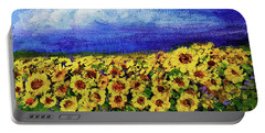 Summer Sunflowers Portable Battery Charger