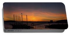 Summer Sunrise In Bar Harbor Portable Battery Charger