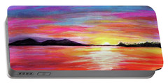 Portable Battery Charger featuring the painting Summer Sunrise by Sonya Nancy Capling-Bacle