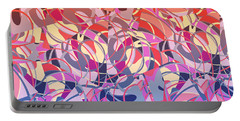 Summer Sunset Abstract  Portable Battery Charger