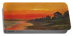 Summer Sunset At  Crystal Beach Portable Battery Charger