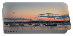 Summer Sunset In Boothbay Harbor Portable Battery Charger