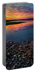 Summer Sunset In Rye Portable Battery Charger