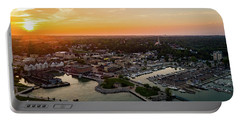 Summer Sunset In The Sky Portable Battery Charger