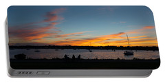 Summer Sunset With Friends Portable Battery Charger