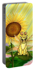 Summer Sunshine Fairy Cat Portable Battery Charger