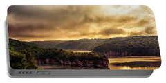 Summersville Lake At Daybreak Portable Battery Charger