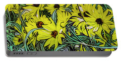 Summertime Faces Portable Battery Charger by Ron Richard Baviello