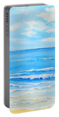 Portable Battery Charger featuring the painting Summertime by Teresa Wegrzyn