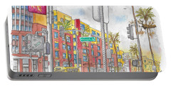 Sunset Blvd, And Hayworth, West Hollywood Portable Battery Charger by Carlos G Groppa