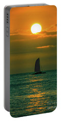 Portable Battery Charger featuring the photograph Sun And Sail by Mitch Shindelbower