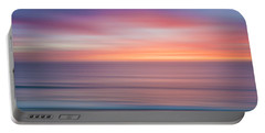 Sun And Sea Abstract Portable Battery Charger