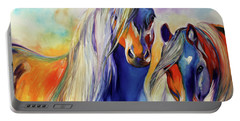 Sun And Shadow Equine Abstract Portable Battery Charger
