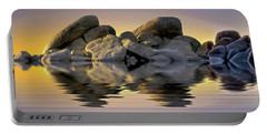 Sun Bathed Rocks Portable Battery Charger