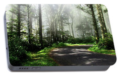 Portable Battery Charger featuring the photograph Sun Burning Through The Fog by Katie Wing Vigil