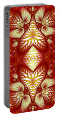 Sun Burnt Orange Fractal Phone Case Portable Battery Charger