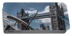 Sun Clock With Tower Bridge Portable Battery Charger