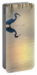 Sun Dog And Great Egret 2 Portable Battery Charger