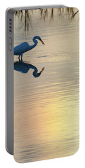 Sun Dog And Great Egret 3 Portable Battery Charger
