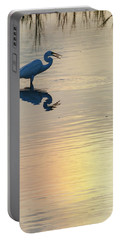 Sun Dog And Great Egret 4 Portable Battery Charger