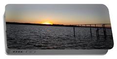 Sun Going Down Near Gov Thomas Johnson Bridge Portable Battery Charger