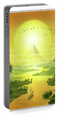 Portable Battery Charger featuring the digital art Sun King by Scott Ross