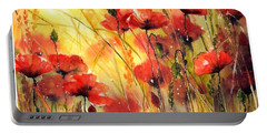Sun Kissed Poppies Portable Battery Charger